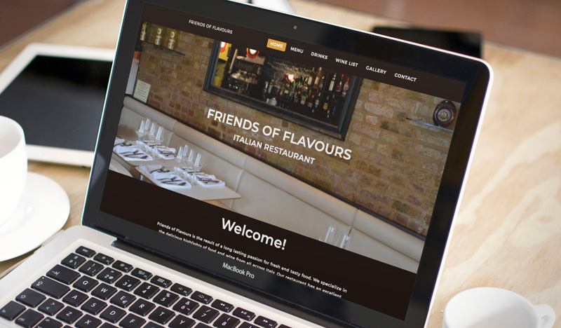 Website Rebranding For Restaurant Friends Of Flavours