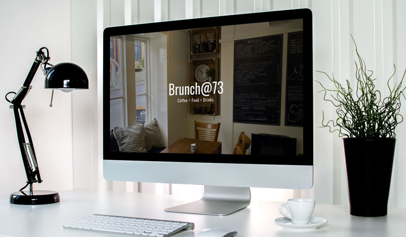 Screenshot of the coffee shop website for Brunch@73