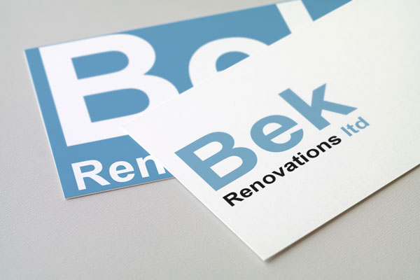 Logo design for the builders branding project Bek Renovations