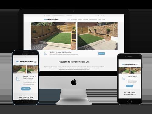 Web Design project for Bek Renovations Ltd