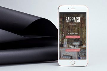 Websites project for the London restaurant Farrago