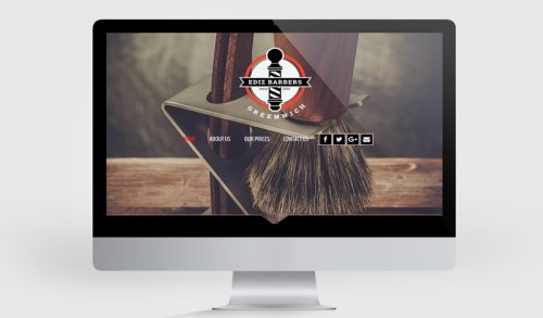 Website and logo rebranding project for Ediz Barbers in London