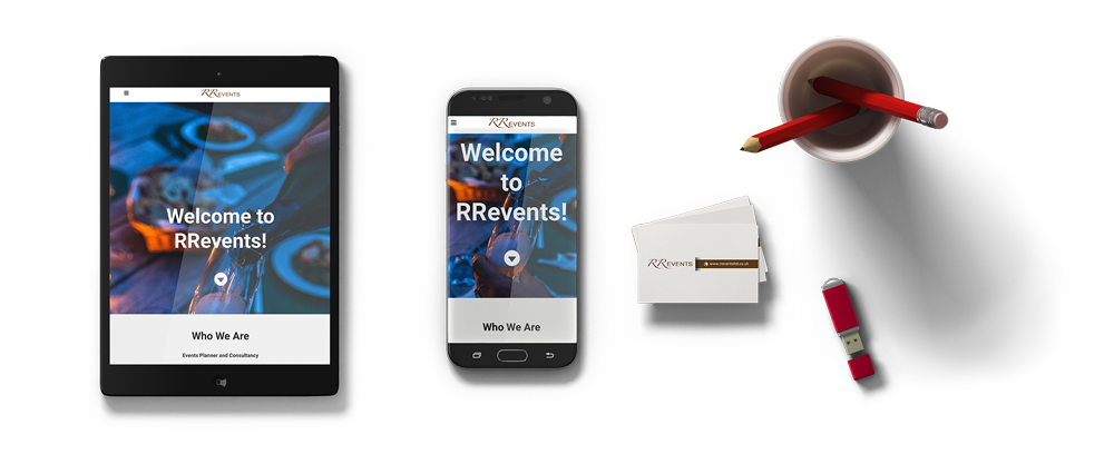RR Events rebranding project on mobile devices