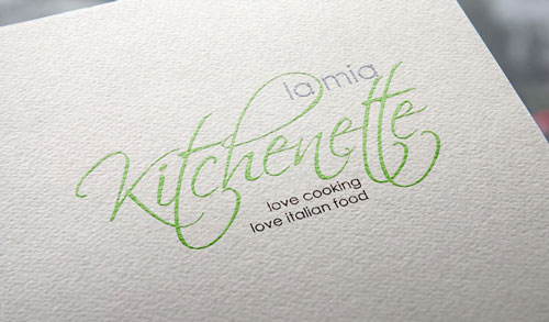 Rebranding logo for La mia kitchenette